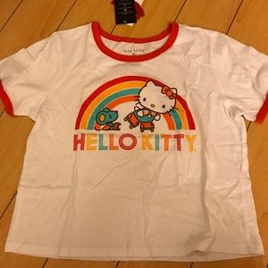 NWT Hello Kitty crop top woman's xl